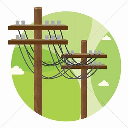Electric Poles Clipart Vector Electrical Pole Power