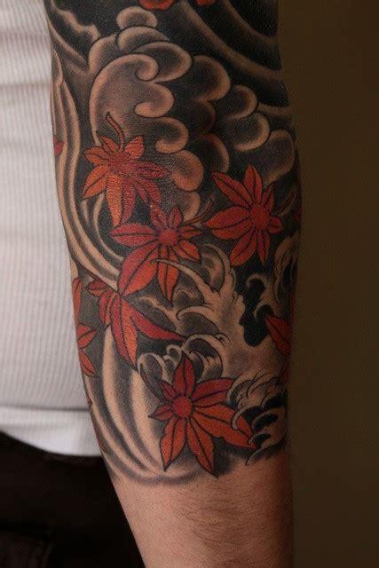 maple  wind jason schroder tattoo japanese style