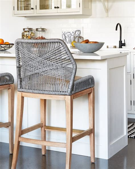 woven rope counter stools    fun unexpected
