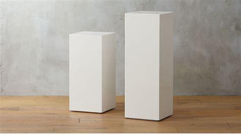 city slicker white pedestal tables cb