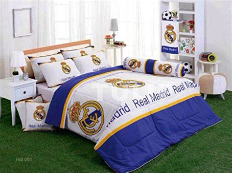 Real Madrid Club Football Bed Fitted Sheet Set King