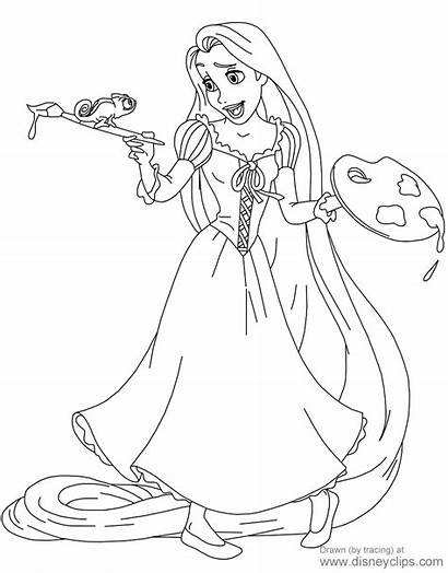 Coloring Rapunzel Pages Tangled Pascal Disney Disneyclips