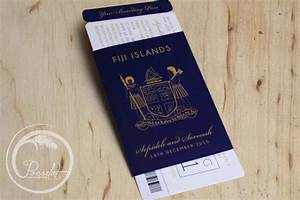 navy blue fijian passport wedding invitation pocadot With navy blue wedding invitations australia