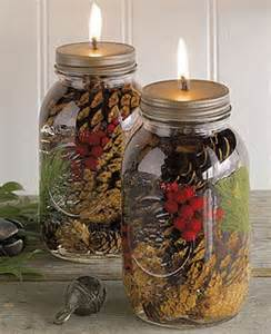 Homemade Mason Jar Oil Candles