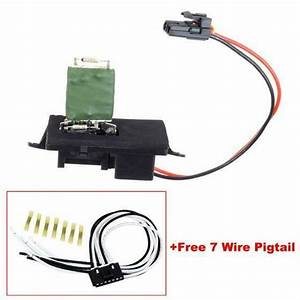 New Heater Blower Motor Resistor W   Wiring Harness For Gmc