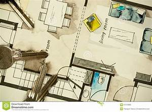 Architectural Flat Floor Plan Stock Photo - Image: 57372682