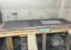 plan de travail dans une buanderie tout beton With plan de travail exterieur en beton