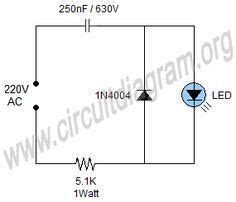 Simple Mains Indicator Led Circuit Diagram Power