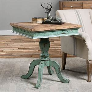 Uttermost, Keyton, Pedestal, Wood, Accent, Table