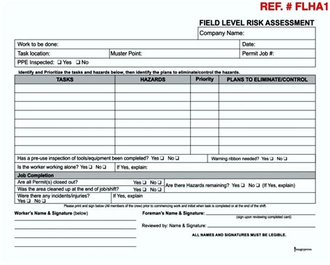 hazard assessment template 21 images of ppe assessment template tonibest