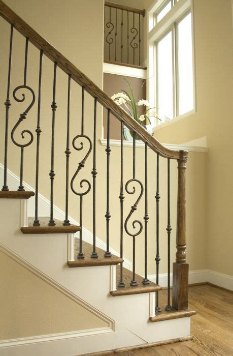 Metal Banisters And Railings by 25 Best Ideas About Iron Stair Railing On