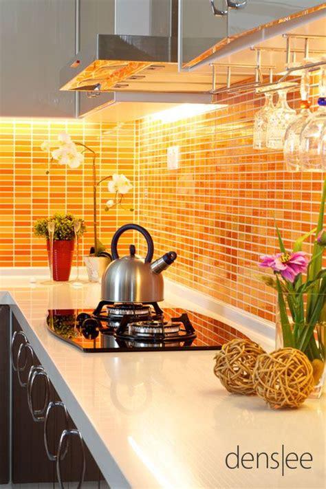 burnt orange kitchen tiles beautiful use of orange tile as a counter top backsplash 4999