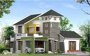 unique 2220 sqfeet villa elevation kerala home design With unique homes designs