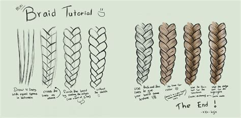 Simple Guide On How To Draw Braids