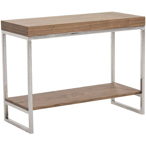 abbyson living vienna solid wood metal console table