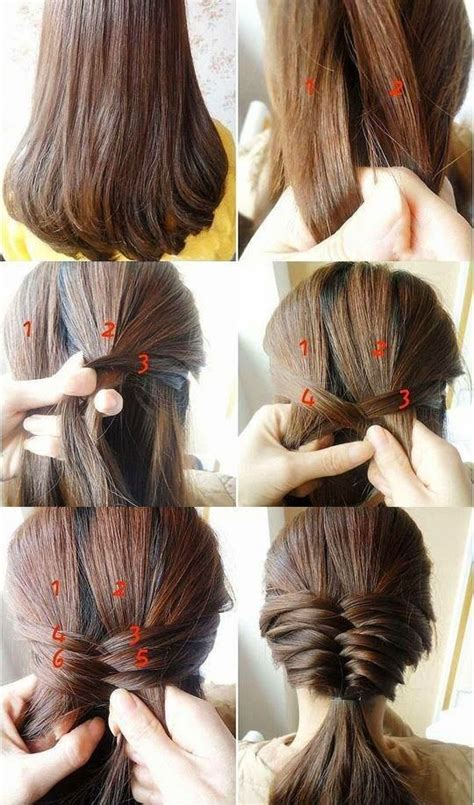 Step By Step Easy Hairstyles Instruction For Long Medium