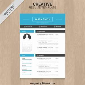 Creative resume template vector free download for Creative resume templates free download