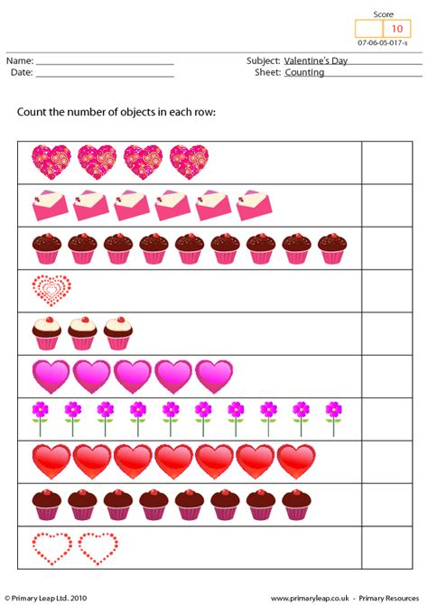 139 FREE Saint Valentine's Day Worksheets