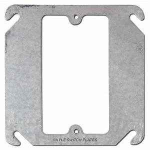Mud Ring Square Box Cover For Single Centered Device