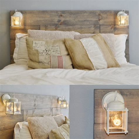 lights for headboards diy headboard ideas to add a decorative touch to your bedroom