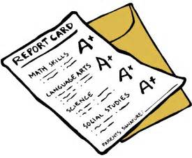 Straight a Report Card Clip Art