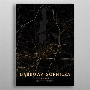 U0026 39 Dabrowa Gornicza Poland U0026 39  Metal Poster Print