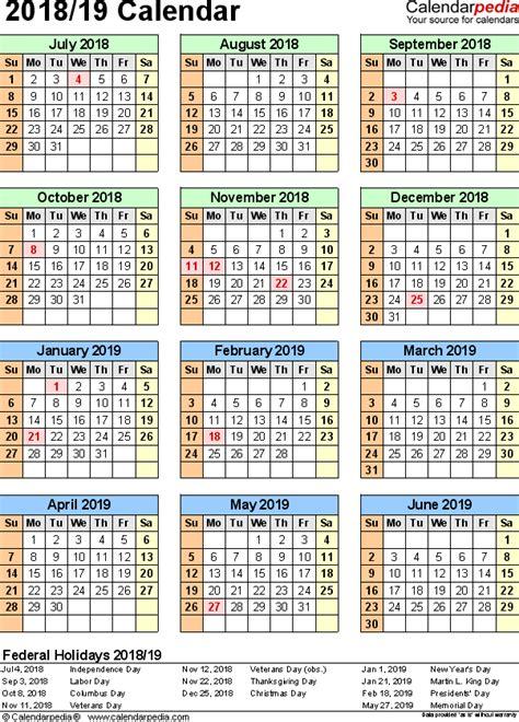 split year calendar july june word templates