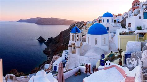 Town Oia Santorini Island Greece High Definition Wallpaper