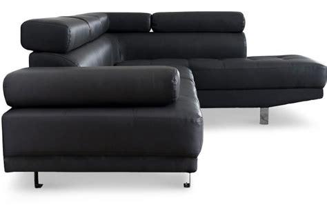 sofactory canapé canapé d 39 angle gauche noir avec têtière relevable tilpa