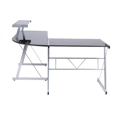 bureau d 39 angle design chili en acier et verre sécurit