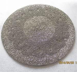 Modren Handmade Beaded Placemat Dining Table Placemats