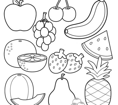 fruit coloring pages  print