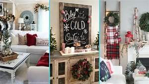 Chic Home Living : diy rustic shabby chic style christmas living room decor ~ Watch28wear.com Haus und Dekorationen