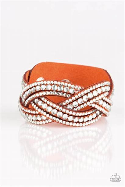 Bling Orange Bring Paparazzi Bracelet Urban Wrap