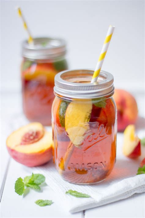 alkoholfreie cocktails selber machen pfirsich eistee rezept mhhh eistee getr 228 nke rezepte