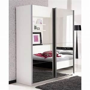 Armoire Blanche Miroir : armoire de chambre avec miroir ~ Teatrodelosmanantiales.com Idées de Décoration