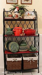 18 curated decorating bakers racks ideas by rickritchie With kitchen cabinets lowes with metal wall art hobby lobby