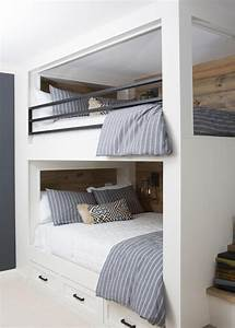 Landscaping Agreement Built In Bunk Beds With Shiplap Paneling And Iron Railings