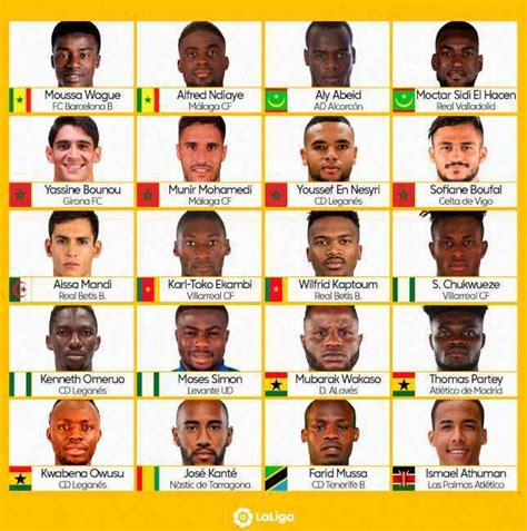 2019 Africa Cup of Nations: La Liga names African stars to ...