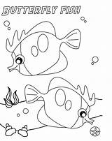Fish Coloring Puffer Butterfly Butterflyfish Sketch Drawing Printable Clown Bowl Sheet Goldfish Designlooter Getcolorings Sea Getdrawings Drawings Paintingvalley Popular 5kb sketch template