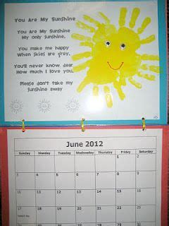handprint calendar june poem  handprint calendar