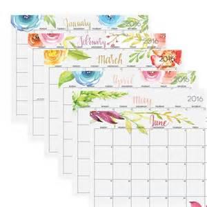 Free Editable Monthly Calendar 2016 Printable