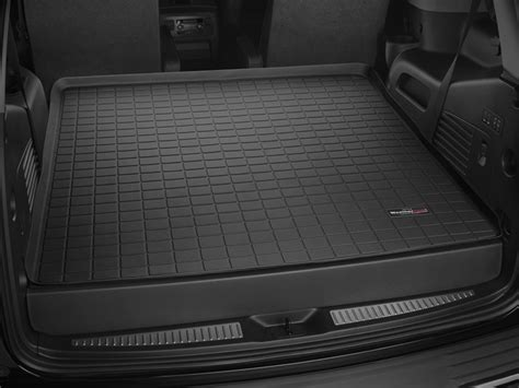 weathertech floor mats escalade floor liner weathertech cadillac escalade cargo behind 2nd row fineline custom auto