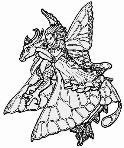 Coloring Fantasy Pages Fairies