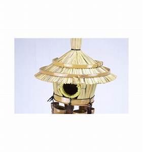 Carillon A Vent : carillon vent avec nichoir rond bambou et paille pour ~ Melissatoandfro.com Idées de Décoration