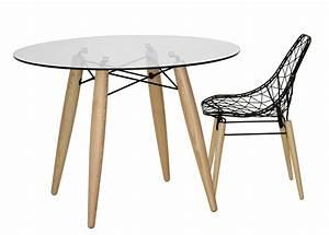 Tisch Rund Glas : tisch rund glasplatte tischplatte glas rund gestell holz 110 cm ~ Frokenaadalensverden.com Haus und Dekorationen