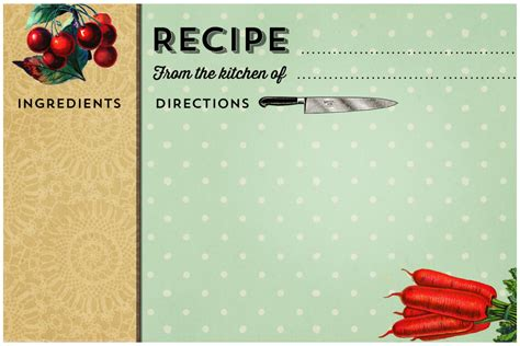 printable vintage recipe cards  printableecom