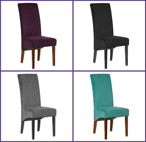 medan set of 2 medan high back dining chairs velvet