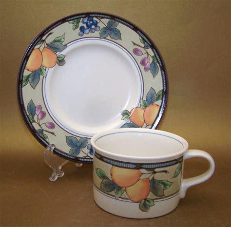 mikasa patterns dinnerware harvest garden china saucer cup dishes dinner bonanza