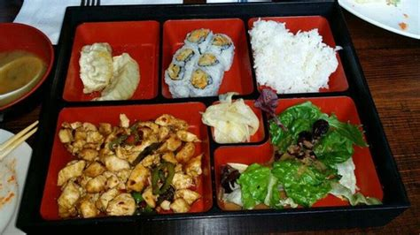 bento japanese cuisine bento box grilled spicy chicken picture of